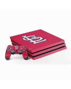St. Louis Cardinals - Solid Distressed PS4 Pro Bundle Skin