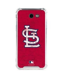 St. Louis Cardinals - Solid Distressed Galaxy J3 (2017) Clear Case