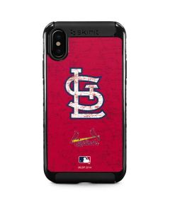 St. Louis Cardinals - Solid Distressed iPhone X Cargo Case