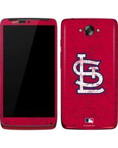 St. Louis Cardinals - Solid Distressed Motorola Droid Skin