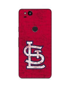 St. Louis Cardinals - Solid Distressed Google Pixel 2 Skin