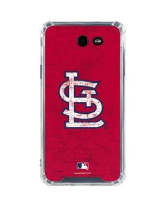 St. Louis Cardinals - Solid Distressed Galaxy J7 (2017) Clear Case