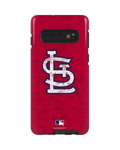 St. Louis Cardinals - Solid Distressed Galaxy S10 Pro Case