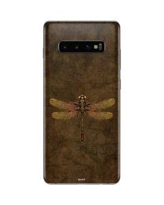 Steampunk & Gear Dragonfly Galaxy S10 Plus Skin