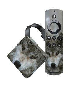 Stoic Gray Wolf Amazon Fire TV Skin