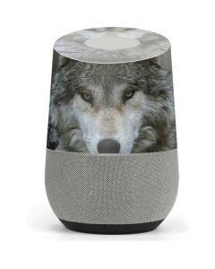 Stoic Gray Wolf Google Home Skin