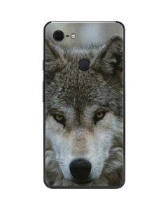 Stoic Gray Wolf Google Pixel 3 XL Skin