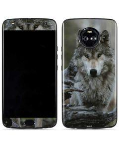 Stoic Gray Wolf Moto X4 Skin