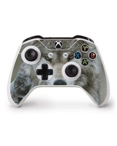 Stoic Gray Wolf Xbox One S Controller Skin
