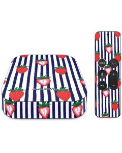 Strawberries and Stripes Apple TV Skin