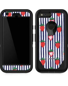 Strawberries and Stripes Otterbox Defender Pixel Skin