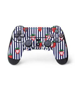 Strawberries and Stripes PS4 Pro/Slim Controller Skin