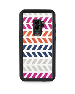 Striped Chevron Galaxy S9 Plus Waterproof Case