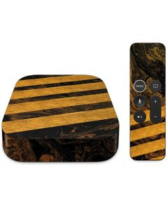 Striped Marble Apple TV Skin