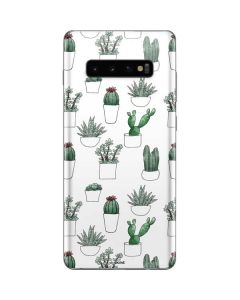 Succulent Pattern Galaxy S10 Plus Skin