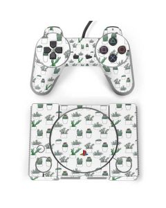 Succulent Pattern PlayStation Classic Bundle Skin