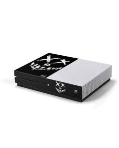 Suicide Squad Smiley Logo Xbox One S Console Skin