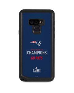 Super Bowl LIII Champions Go Pats Galaxy Note 9 Waterproof Case