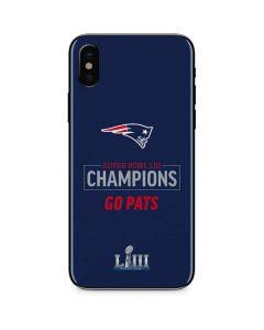 Super Bowl LIII Champions Go Pats iPhone X Skin