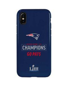 Super Bowl LIII Champions Go Pats iPhone XS Pro Case