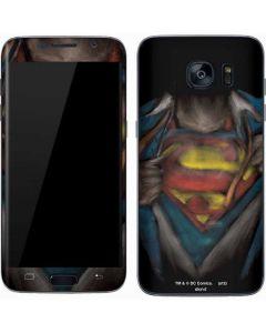 Superman Chalk Galaxy S7 Skin