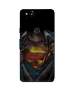 Superman Chalk Google Pixel 2 Skin