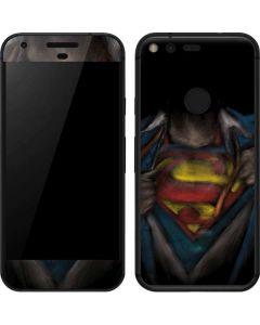 Superman Chalk Google Pixel Skin