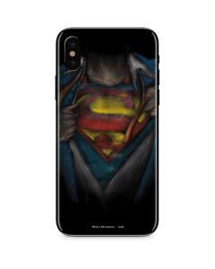 Superman Chalk iPhone X Skin