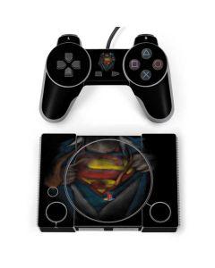 Superman Chalk PlayStation Classic Bundle Skin