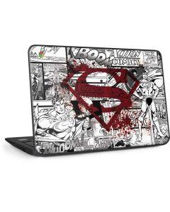 Superman Comic Logo in Red HP Chromebook Skin