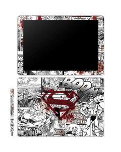 Superman Comic Logo in Red Galaxy Book 12in Skin