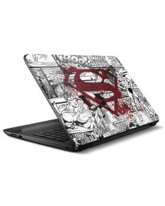 Superman Comic Logo in Red HP Notebook Skin