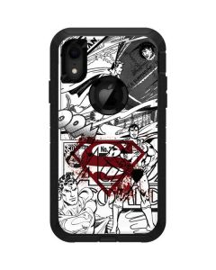 Superman Comic Logo in Red Otterbox Defender iPhone Skin