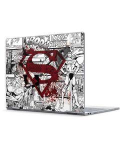 Superman Comic Logo in Red Pixelbook Skin