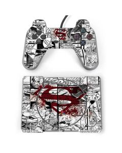 Superman Comic Logo in Red PlayStation Classic Bundle Skin