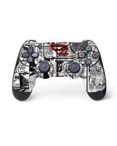 Superman Comic Logo in Red PS4 Controller Skin