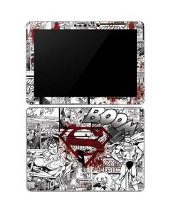 Superman Comic Logo in Red Surface Go Skin