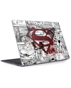 Superman Comic Logo in Red Surface Laptop 2 Skin