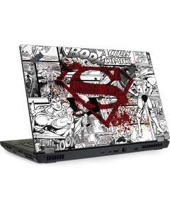 Superman Comic Logo in Red Lenovo ThinkPad Skin