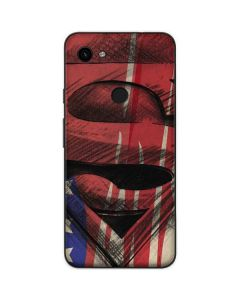 Superman Crest Google Pixel 3a Skin