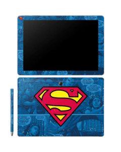 Superman Logo Galaxy Book 12in Skin