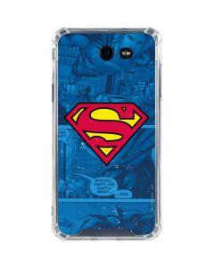 Superman Logo Galaxy J7 (2017) Clear Case
