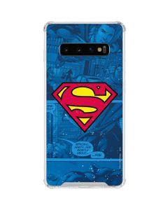 Superman Logo Galaxy S10 Clear Case
