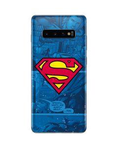Superman Logo Galaxy S10 Plus Skin