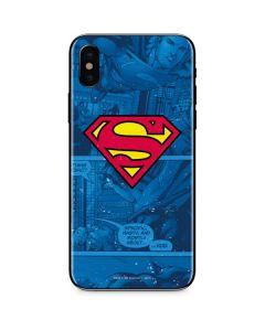 Superman Logo iPhone X Skin