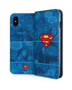 Superman Logo iPhone XS Folio Case