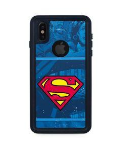 Superman Logo iPhone XS Waterproof Case