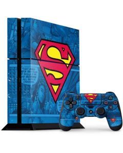 Superman Logo PS4 Console and Controller Bundle Skin