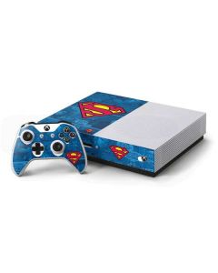 Superman Logo Xbox One S Console and Controller Bundle Skin