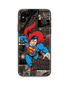 Superman Mixed Media iPhone X Skin